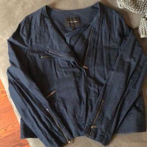Banana Republic Navy Blue Lightweight Linen Jacket